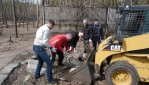 На городошном стадионе в Липецке в ходе субботника очищен ещё один корт