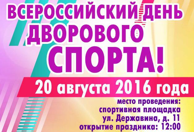 Всероссийский День дворового спорта в Великом Новгороде