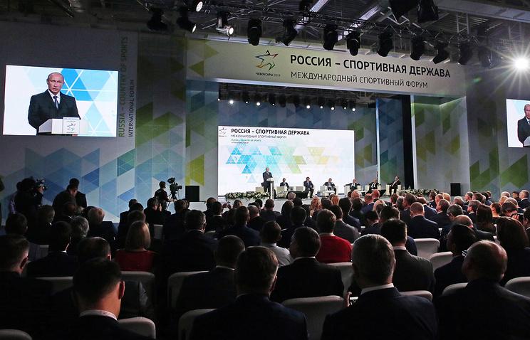Виталий Мутко принял участие в забеге форума » Россия — спортивная держава»
