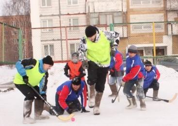 В Кировском районе Кемерова состоялся турнир по хоккею в валенках