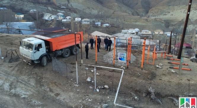Воркаут-площадку установили в Гумбетовском районе