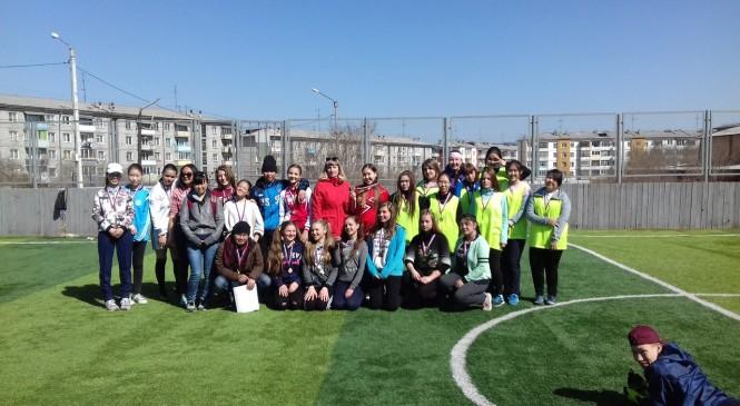турнир по футболу среди дворовых команд девушек Октябрьского района г. Улан-Удэ